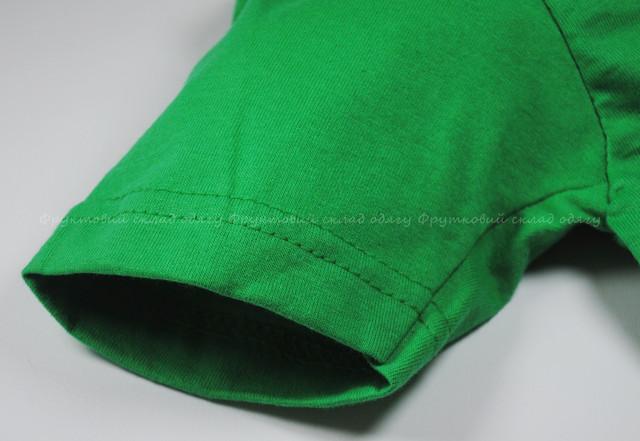 Ярко-зелёная детская мягкая футболка для мальчиков