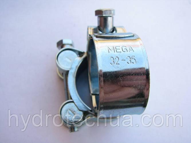Хомут 32-35 W1 силовой HYDRO TECH стальной оцинкованный