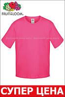 Детская футболка Мягкая для Мальчиков Малиновая Fruit of the loom 61-015-57 9-11