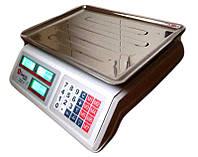 Электронные весы Domotec Dk-55. Торговые весы Domotec до 55кг, подсветка, двухстороннее табло, 7 ячеек цены.