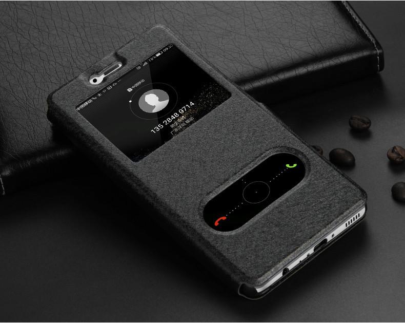 Чехол Apple Iphone 7 книжка с двойным окном черный