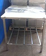 Обвалочно-разделочные столы 1150х100х850 с полкой и бортом