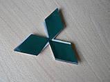 Эмблема z MITSUBISHI 96.5х85мм выпуклая №2 уценка  хром наклейка на авто Митсубиши Мицубиси, фото 6