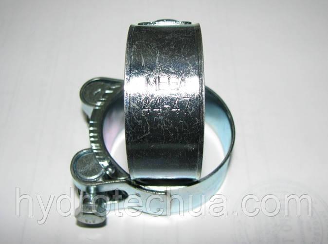Хомут 44-47 W1 силовой HYDRO TECH стальной оцинкованный