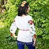 """Льняна жіноча сорочка вишиванка """"П'ять маків"""", фото 3"""