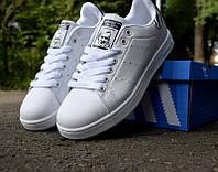 """Женские кроссовки Adidas Stan Smith """"Zebra"""" белые ТВ-3112"""