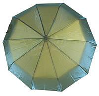 Женский прочный зонтик автомат с переливающимся куполом RAINBOW art. 0083 зеленый салатовыйперелив(101339)