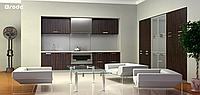 Кухня RODA НАРА: матовый шпонированный фасад эксклюзивными сортами дерева