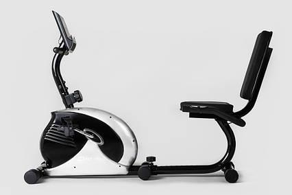 Горизонтальный велотренажер Hop-Sport HS-65R VEIRON silver/black , фото 2