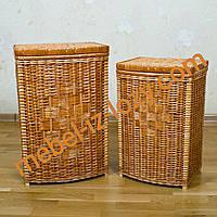 """Набор плетеных корзин-ящиков для белья """"Выпуклый"""" 2 шт"""
