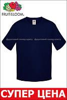 Детская футболка Мягкая для Мальчиков Глубоко тёмно-синяя Fruit of the loom 61-015-AZ 3-4