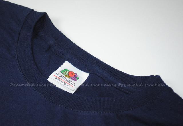 Глубоко тёмно-синяя детская мягкая футболка для мальчиков