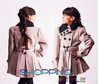 Стильное пальто для девочки,с пуговками,34,36,38,40,42