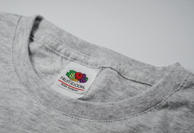 Серо-лиловая детская мягкая футболка для мальчиков