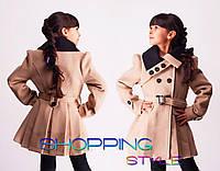 Пальто для девочки,с пуговками,осень-весна