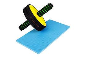 Ролик для пресса Hop-Sport желтый (yellow), фото 3