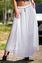 """Длинная юбка """"Гофре""""  Белый, фото 2"""