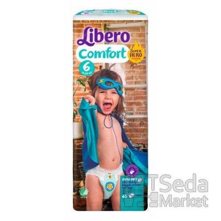 Подгузники детские Libero Comfort Hero Collection 6 12-22 кг 46 шт.