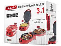 Плита многофункциональная 3 в 1 Beper (печь + гриль + сковорода)