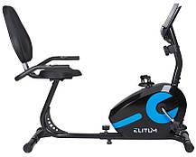 Горизонтальний велотренажер Elitum LX300 black , фото 2