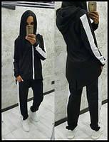 Подростковый костюм с удлиненной толстовкой(трехнитка)