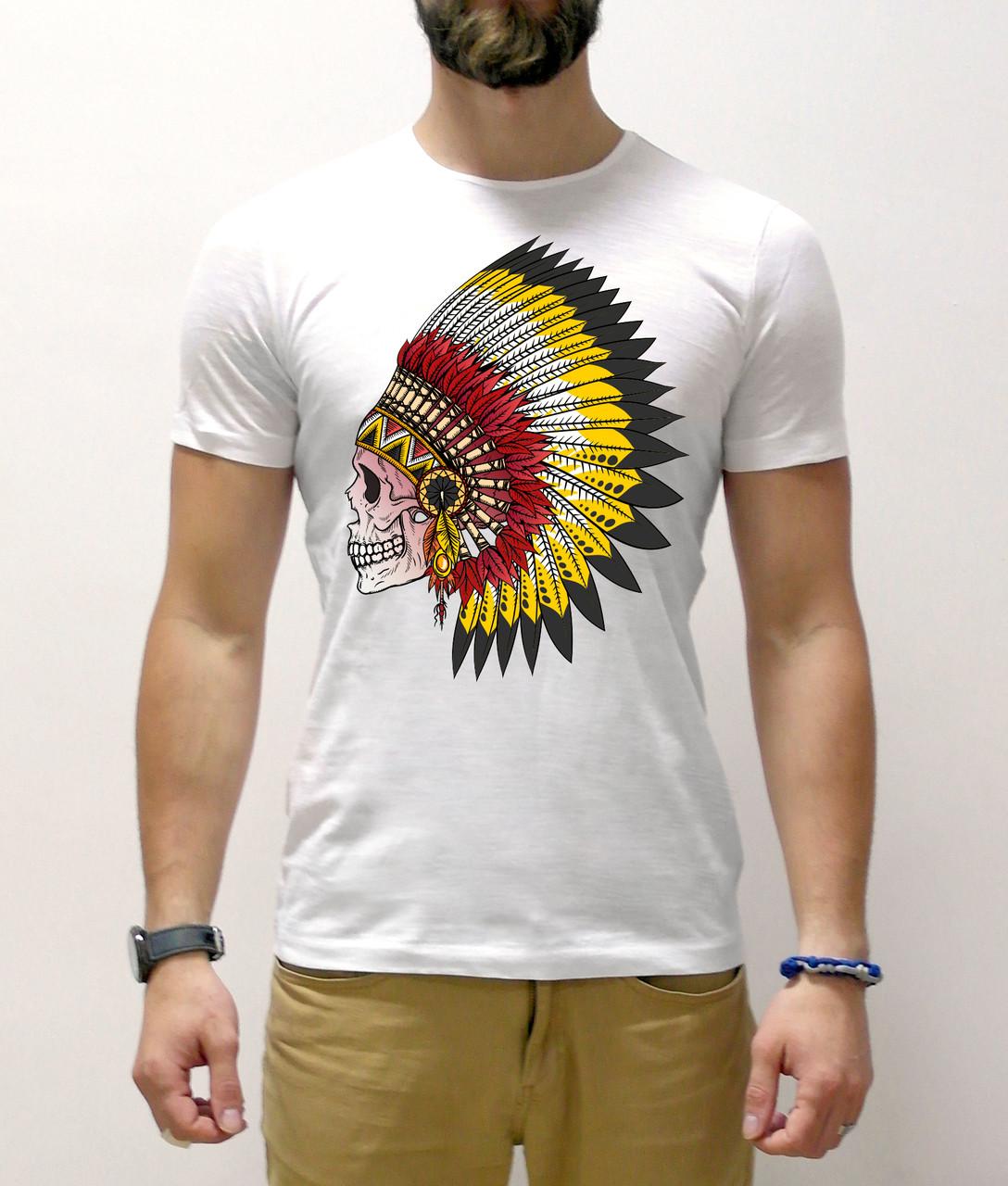 """Мужская футболка """"Череп индейца"""""""