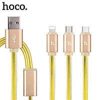 Кабель  Hoco i5 micro usb 1m color