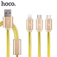 Кабель  Hoco i5 micro usb 1m color