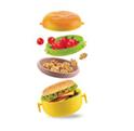 Контейнер для обеда titiz ap-9080 hamburger