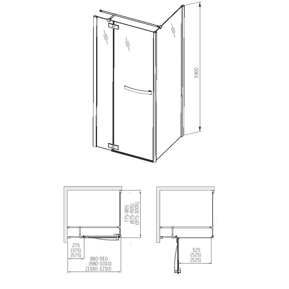 aquaform Душевые двери Aquaform HD Collection 100 см 103-09375 R