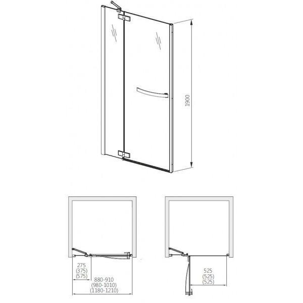 aquaform Душевые двери Aquaform HD Collection 90 см 103-09396 R