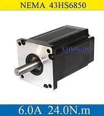 Шаговый двигатель 24N.m ЧПУ CNC NEMA43 43HS6850 6.0А, фото 2