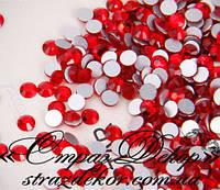 Стразы ss6 без клея Light Siam (светло-красные) (100шт.) холодной фиксации, фото 1