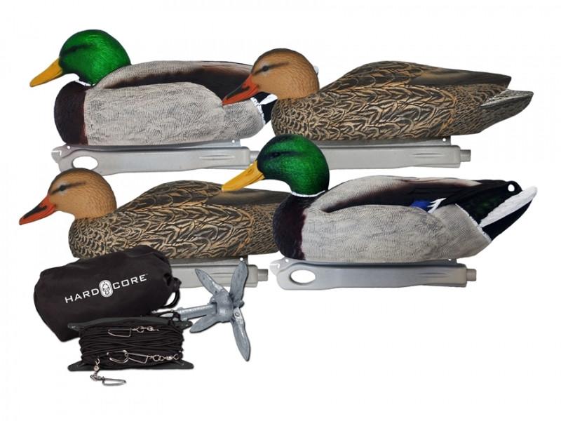 Утиные чучела Hard Core Jerk Cord Combo Floater Duck Decoy Pack
