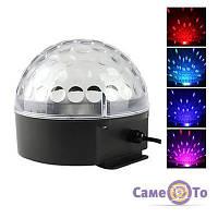 Диско куля з MP3 плеєром LED Ball Light з ПДК і флешкою, 1000460, диско куля, купити диско кулю, дискотечна куля, куля для дискотеки, світлова куля