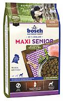 Bosch MAXI SENIOR 1 кг - корм для пожилых собак крупных пород (птица/рис)