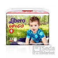 Подгузники-трусики детские Libero Up&Go 4 7-11 кг 32 шт.