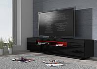 Тумба RTV  200 C черная - современная мебель для гостиной
