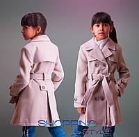 """Кашемировое пальто для девочки """"Классик"""",осень"""