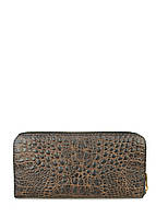 Кожаный кошелек PoolParty Crocodile Wallet Brown