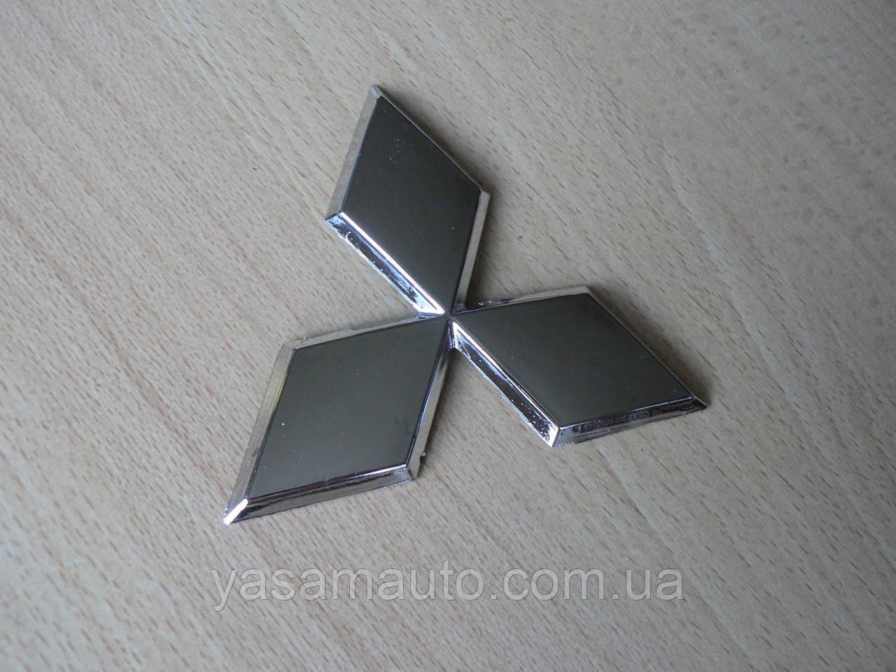 Эмблема z MITSUBISHI 96.5х85мм выпуклая №2 уценка  хром наклейка на авто Митсубиши Мицубиси