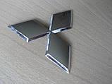 Эмблема z MITSUBISHI 96.5х85мм выпуклая №2 уценка  хром наклейка на авто Митсубиши Мицубиси, фото 2