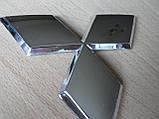 Эмблема z MITSUBISHI 96.5х85мм выпуклая №2 уценка  хром наклейка на авто Митсубиши Мицубиси, фото 4