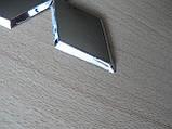 Эмблема z MITSUBISHI 96.5х85мм выпуклая №2 уценка  хром наклейка на авто Митсубиши Мицубиси, фото 5