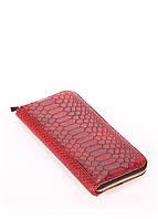 Кожаный кошелек PoolParty Snake Wallet Red