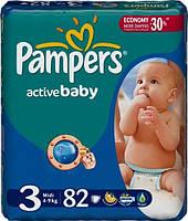 Подгузники PAMPERS Active Baby Midi (4-9 кг) 82 шт. (4015400265085)
