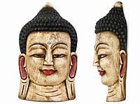 Этническая маска Будда 55 см белая