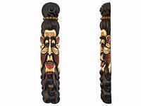 Этническая маска Бхуванеш 100 см слоновая кость