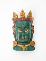 Этническая маска Тара 40 см зеленая