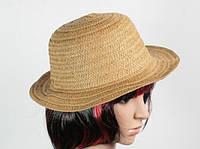 Соломенная шляпа Бебе 29 см светло-коричневая